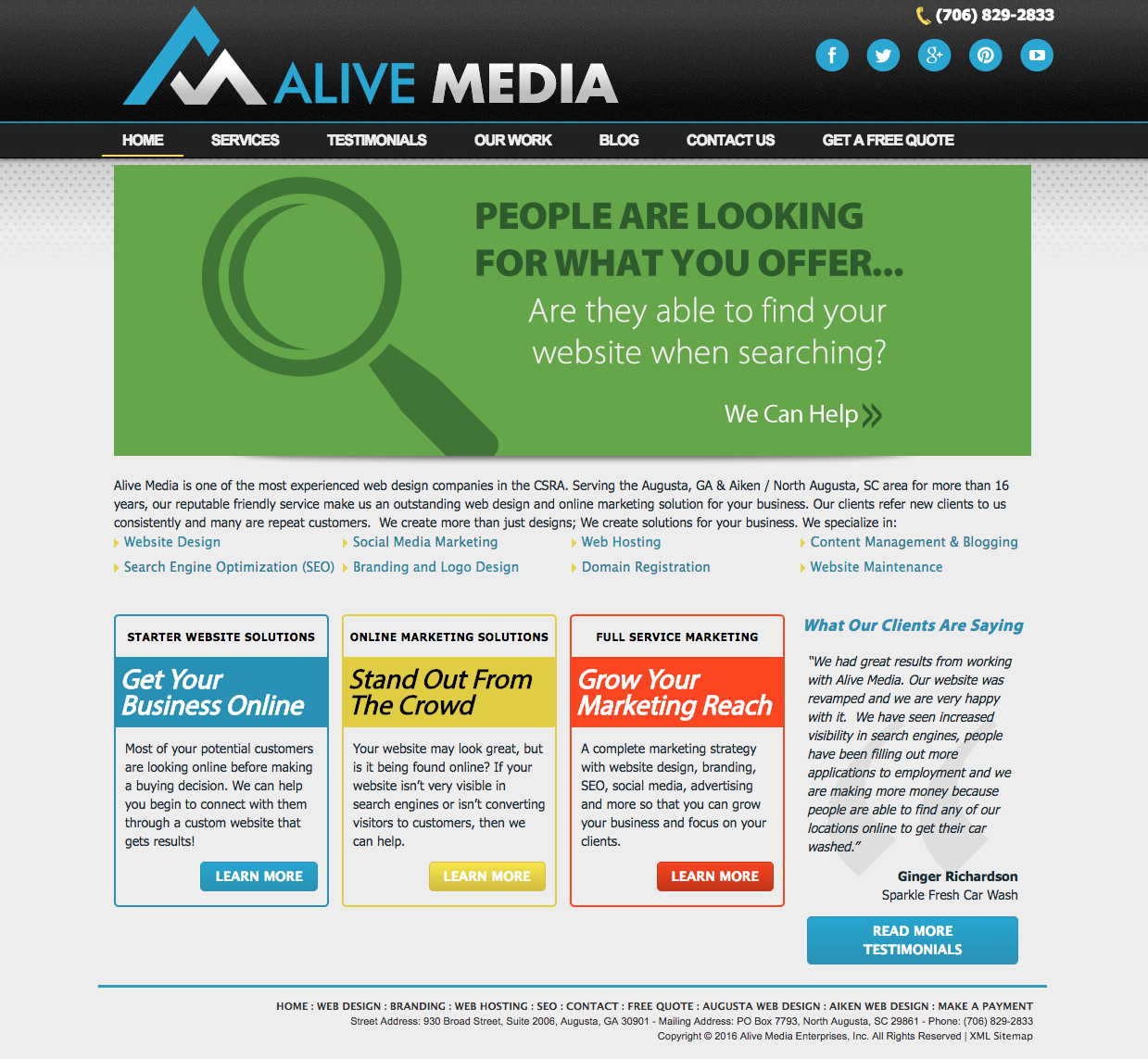 new website for alive media alive media web design and digital