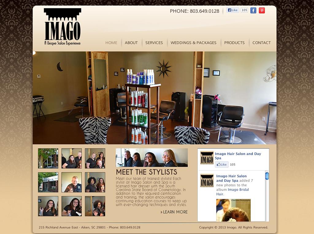 New site launch imago salon and day spa alive media for Salon marketing digital