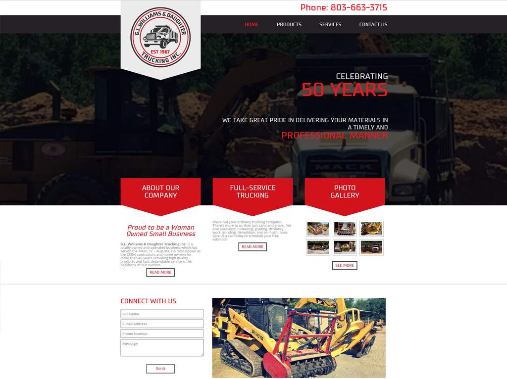 modern website design north augusta sc